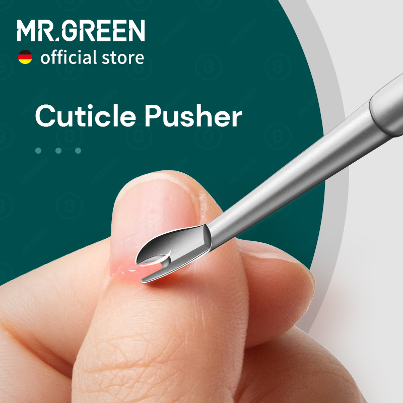 MR.GREEN Cuticle Remover Dead Skin Pusher Surgical Grade Stainless Steel Nail Art Manicure Tools Scraper Nail Cleaner Trimmer