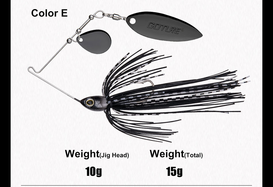 spinnerbait bait 10g 15g artificial bait jigging lure (11)