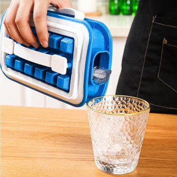 Portable Ice Cube Mold Bottle 2 In 1 Silicone Ice Tray Ice Cube Ice Making Mold Reusable Cooler Ice Frozen Storage Container silicone hot water bottle cute cat design hand warmers cooler reusable heating ice cooling muscle injury ice compress gift