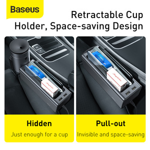 Image 2 - Baseus Car Organizer Auto Seat Crevice Gaps Storage Box Cup Phone Holder for Pockets Stowing Tidying Organizer Car Accessories