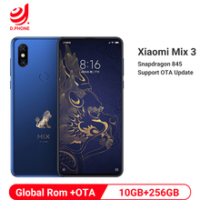 "Verbotene Stadt Globale Rom Xiaomi Mix 3 Mix3 10GB RAM 256GB ROM Handy S845 Octa Core 24MP kamera 6,39 ""Drahtlose Lade"