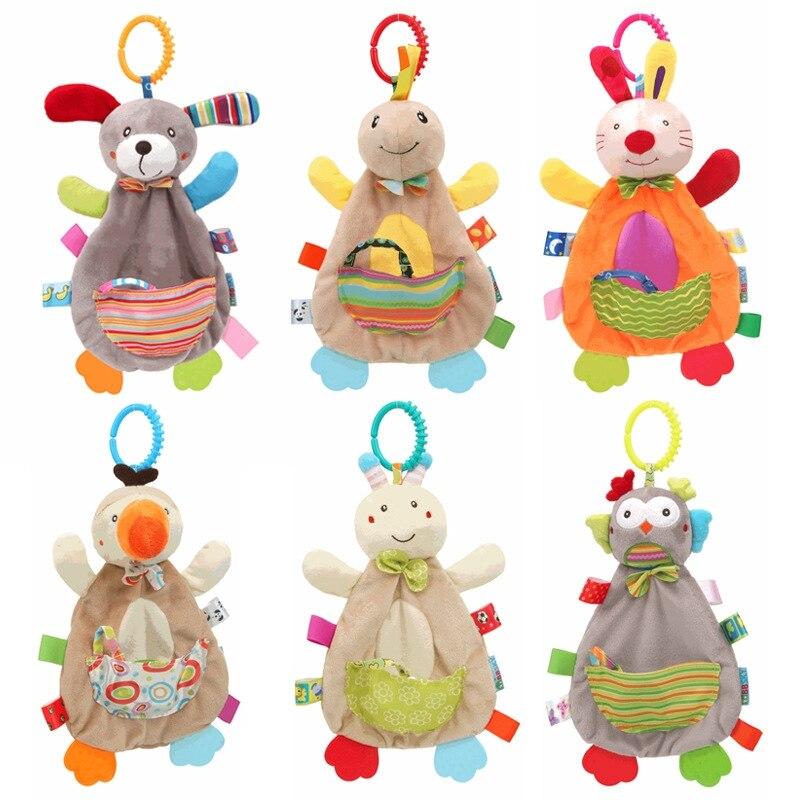 Детские игрушки, погремушки для младенцев, мягкая игрушка, детские игрушки 0-12 месяцев, милая плюшевая кукла с животными, развивающая игрушк...
