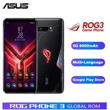 Nova listagem asus rog 3 zs661ks 5g telefone do jogo 12gb ram 512gb rom snapdragon865 + 6.59
