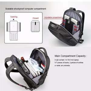 Image 4 - Kingsons рюкзак для ноутбука с внешней зарядкой и usb портом, Противоугонный, женский, деловой, дорожный, 15,6 дюйма, ks3282w