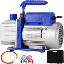 VEVOR 4cfm 1/4hp Single Stage Vacuum Pump Air Conditioning Refrigeration Vacuum