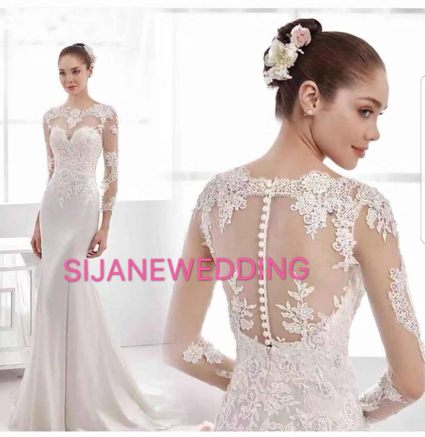 Wedding Dress Vestidos De Noiva Sheath Lace Wedding Party dress528