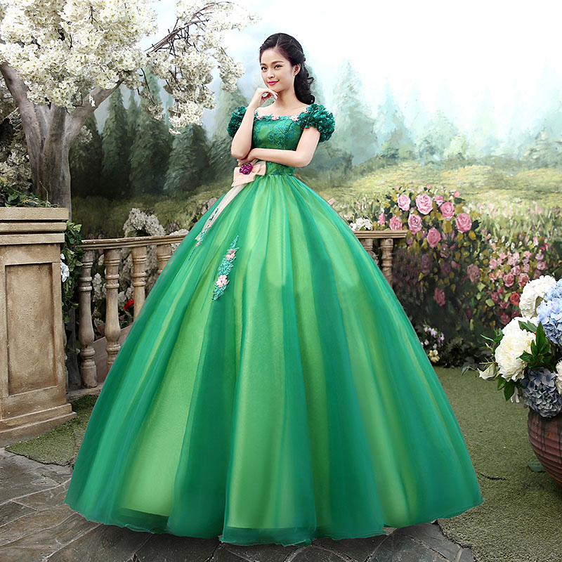 Chic Appliques Beads Green Quinceanera Dresses 2019 Puffy A Line Off Shoulder Long Sweet 16 Prom Dress Party Vestidos De 15 Anos