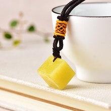 Pendentif Simple en pierre de Quartz naturelle, cristal brut pour hommes et femmes, bijoux jaunes, cadeau d'échantillon minéral Reiki, 1 pièce