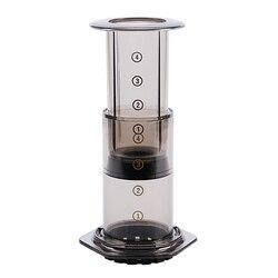 Draagbare Koffiezetapparaat Koffie Druk Pot Koffie Filter Koffie Machine Papier Keuken Set Zwart