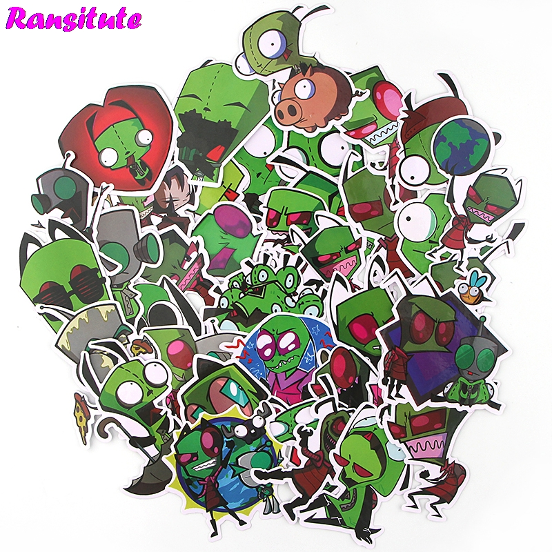 38pcs/set Anime Cartoon Cartoon Mix Sticker Laptop Skateboard Luggage Bike JDM Doodle Applique Cool Waterproof Sticker R509