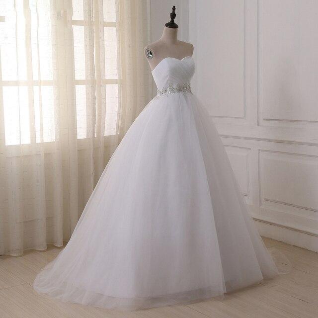 Jiayigong Stock Real Wedding Dresses Vestidos de novia Sweetheart Sweep Train Lace Applique Corset Wedding Dress Robe De Mariage 4