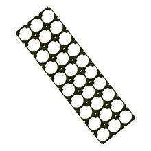 15pcs/lot MasterFire 3*10 18650 Batteries Spacer Radiating Holder Bracket Black Plastic Battery Storage Box Holder Brackets