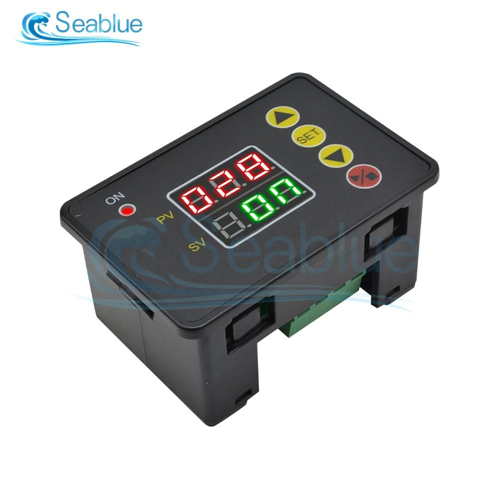 T2310 AC 110-220V DC 12V 24V LCD Digital Display Microcomputer Time Controller Timer 000-999h 000-999min 000-999s Control Module