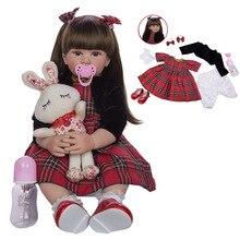 цены New 24 Inch Reborn Dolls 60 cm Silicone Soft Realistic Newborn Babies DOLL For Sale Ethnic Doll Kid Birthday Xmas Gifts Toys