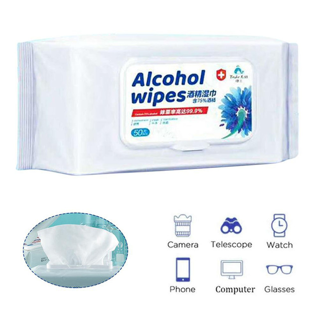 50/100 Pcs Alcohol Wet Wipe Disposable Disinfection Prep Swap Pad Antiseptic Skin Cleansing Care Wipe Portable Healthy Care 4