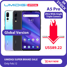 "Global Versie Umidigi A5 Pro Android 9.0 Octa Core 6.3 ""Fhd + Waterdrop 16MP Triple Camera 4150 Mah 4 gb Ram 4G Celular Smartphone(China)"