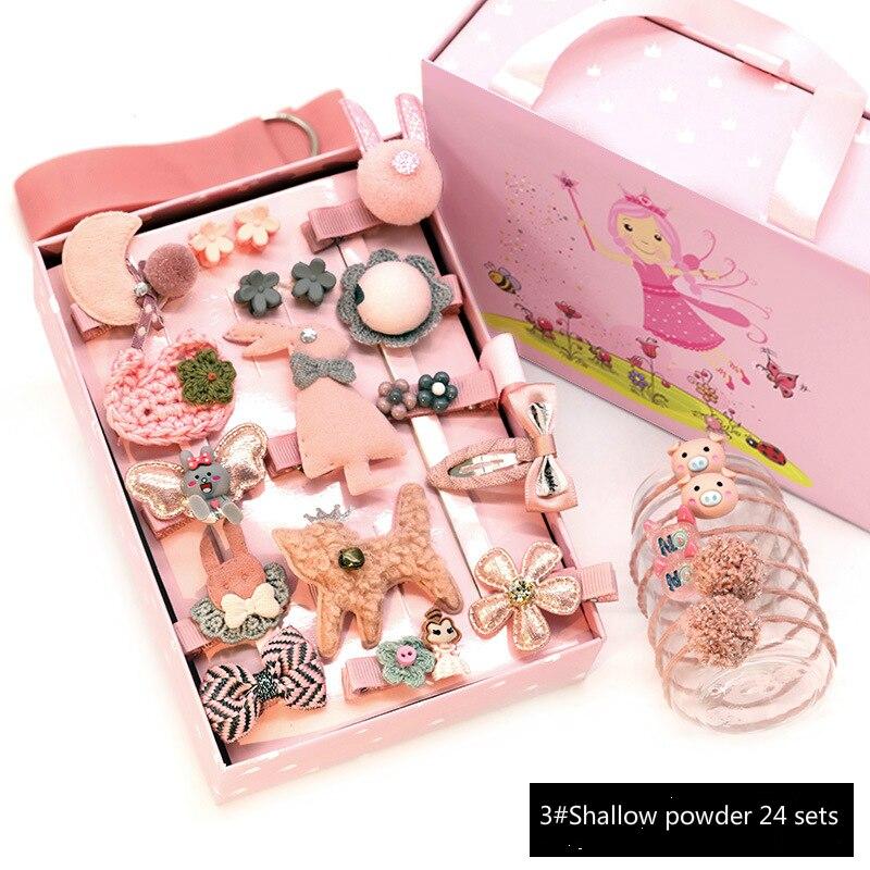 Hair Accessories Gift Set Princess Ribbon Bow Hairpins Kids Hair Barrettes Hairgripscartoon Linen Hair Bows
