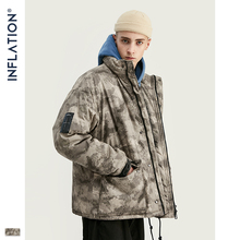 INFLATION DESIGN Tall Men Parka Jacket Light Camo Print Loose Fit With  Functional pockets 2019 Winter 9711W