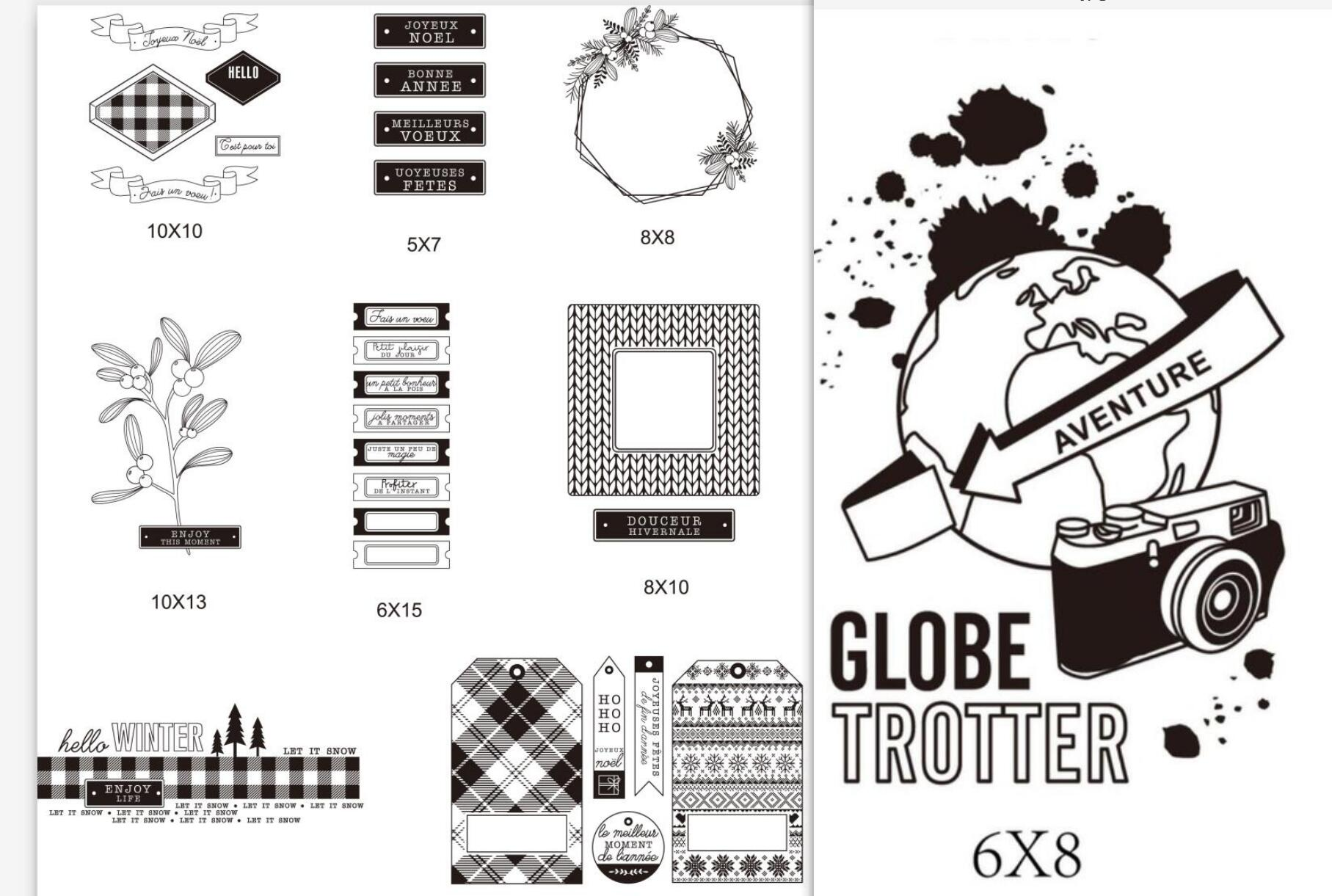 Thanks Transparent Silicone Clear Stamps for DIY Scrapbooking Album Card Decor R