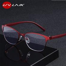 UVLAIK-gafas de lectura tipo ojo de gato para mujer, anteojos Retro de Metal, con bloqueo de luz azul presbicia para padres, bisagras de primavera