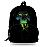 New Arrival High Quality Lion King Print Backpacks boys Schoolbag for Teenager Boys&Girls Laptop Backpack
