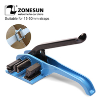 zonesun XW50 flexible polyester fiber strapping machine Manual Packing Tools straps tensioner 50mm