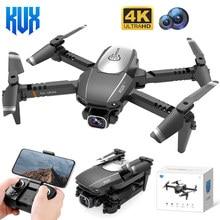 KUX Mini RC Drone Aircraft 4K HD Dual camera WiFi Fpv Air Pressure Altitude Hold Foldable Quadcopter Remote control Plane Toys