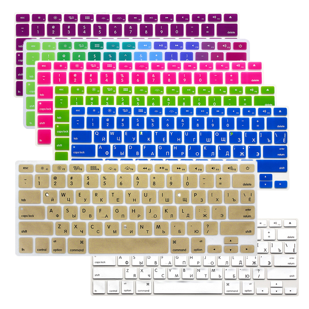 Russian Letter <font><b>keyboard</b></font> <font><b>sticker</b></font> Cover Protector For Macbook Air 13 Pro 13.3 15.4 Retina 17 For <font><b>Mac</b></font> Pro 13 A1369 A1286 A1502 PC image