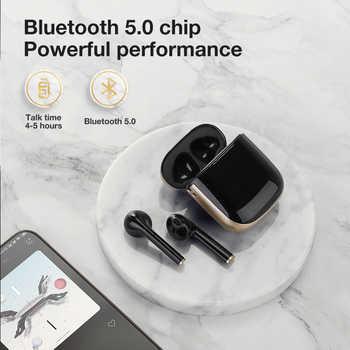 SANLEPUS TWS Bluetooth 5,0 Kopfhörer Drahtlose Kopfhörer Mit Wirless Lade, Led Earbuds Headset Für Android iPhone Xiaomi