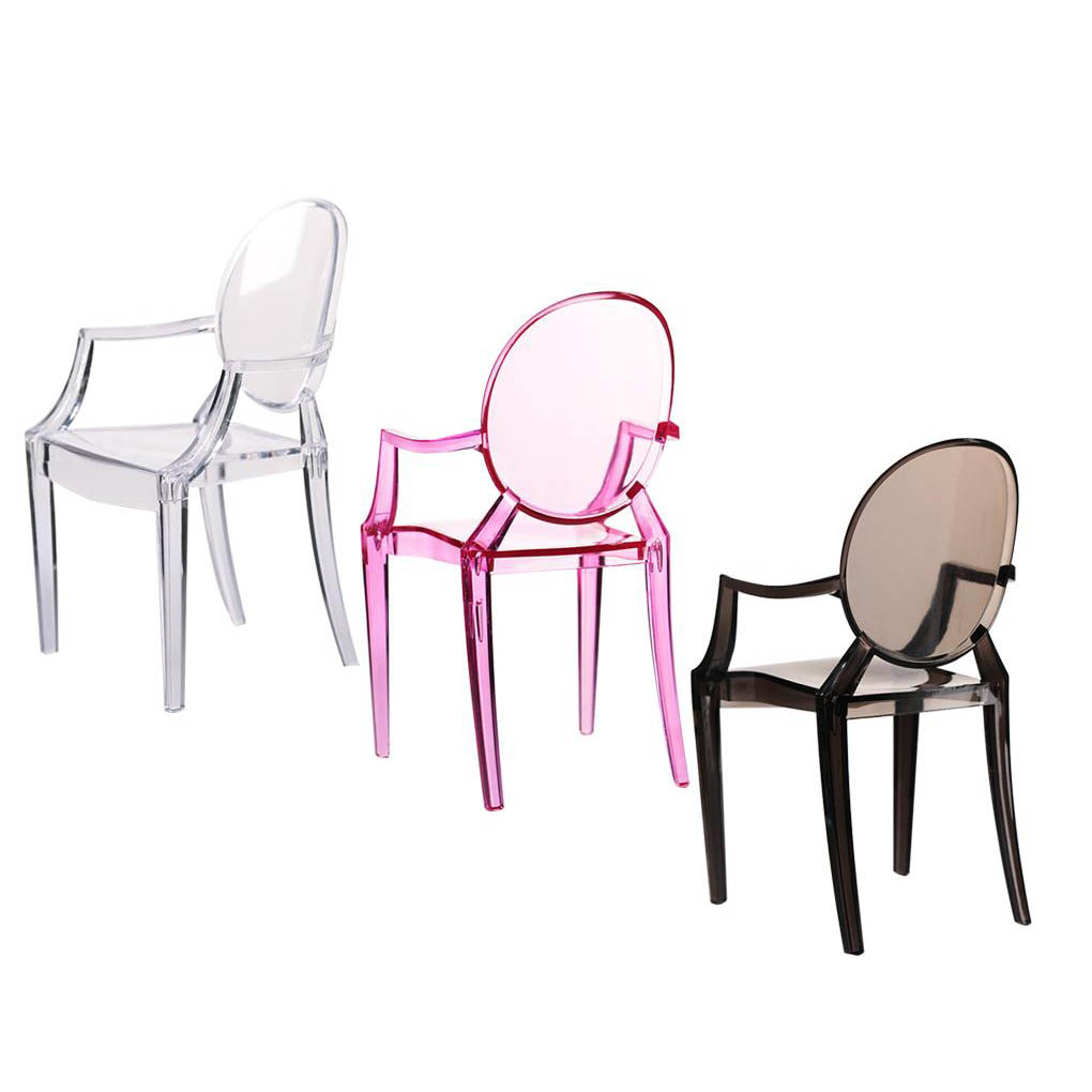 1:6 Dollhouse Chair Simulated Plastic Miniature Armchair Furniture Model Doll House Accessories