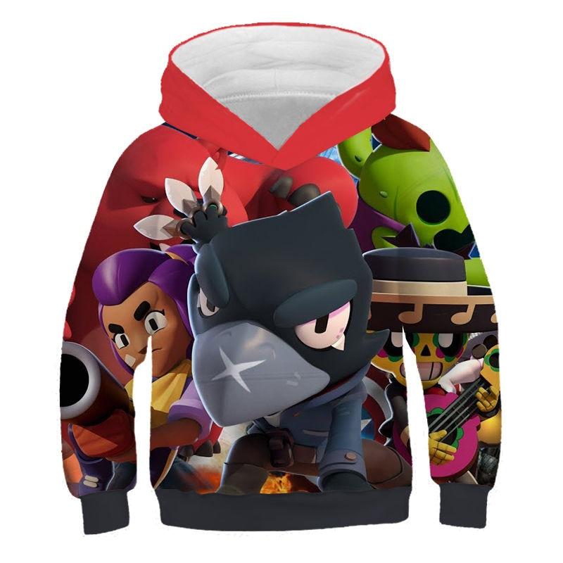 kids new hoodie shooting game boy girl long sleeve coat Thin section Sportswear 3D printed hoodie sweatshirt 6 7-8 9-11 12 Year
