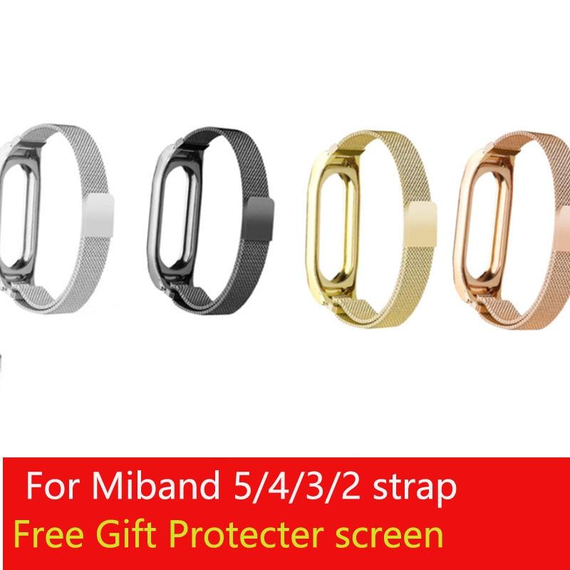 Миланский Браслет из нержавеющей стали для Xiaomi Mi Band 2 3 4 5, браслет на запястье, металлический ремень Miband 5 strap for strap metalmetal strap   АлиЭкспресс