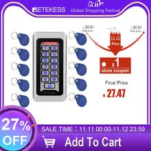 RETEKESS T AC03 Rfid Porta di Accesso Sistema di Controllo IP68 Impermeabile In Metallo Tastiera Di Prossimità Carta Standalone Con 2000 Utenti