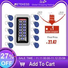 Retekess T AC03 rfid porta sistema de controle acesso ip68 à prova dip68 água metal teclado cartão proximidade standalone com 2000 usuários