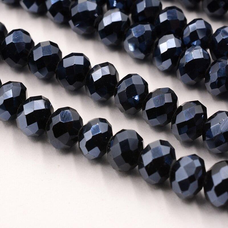 4 мм 140 шт./лот бусины из кристаллов, граненые круглые стеклянные бусины - Цвет: 088