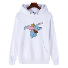 Cartoon Dumbo Winter Coat Loose Thick Hoodies Women/Men Sweatshirt Kawaii Harajuku Unisex Pullover Office Lady Feminino Clothes