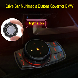 iDrive Car Multimedia Buttons Cover for BMW 1 3 5 7 Series X1 X3 F25 X5 F15 X6 16 F30 F10 F07 E90 F11 E70 E71 Knob Cap Stickers