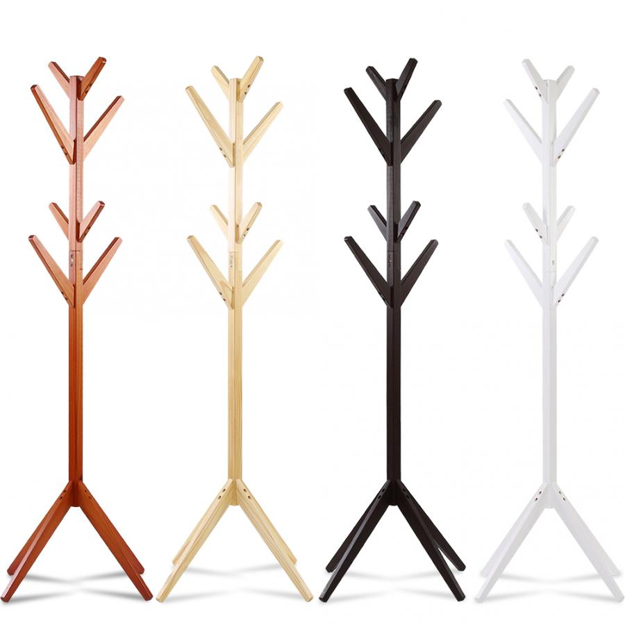 Pine Coat Clothing Rack Clothes Scarfs Hanging Stand Disassembled Hanger for Home Use Coat Pine Rack-in Hangers & Racks from Home & Garden