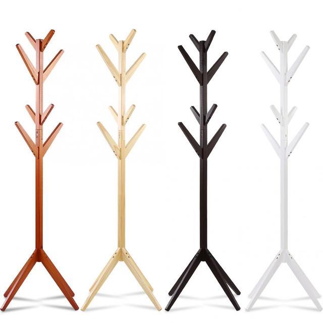 אורן מעיל בגדים מתלה בגדי צעיפים תליית Stand מפורק קולב לשימוש ביתי מעיל אורן מתלה