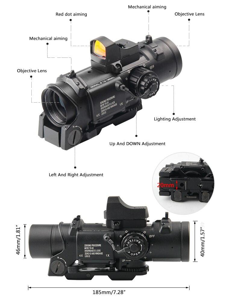 scope rmr para rifle de caça airsoft tiro