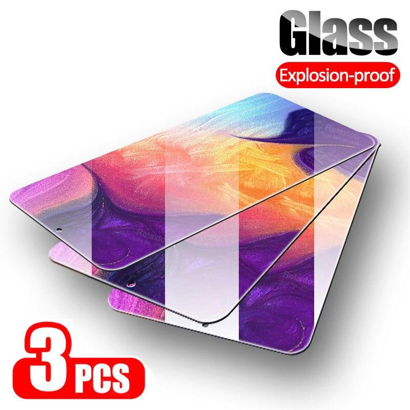 3PCS Tempered Glass For Samsung A50 A70 A40 A20 20S A10 10S A30 A60 Safety Armor Glass For Samsung A50S M40 M30 M20 A30S 40S A90
