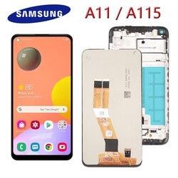 6,4 ''Оригинальный A11 ЖК-дисплей для Samsung Galaxy A11 ЖК-дисплей сенсорный экран в сборе для Samsung A115F A115F/DS ЖК-дисплей