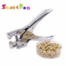 Perforadora de retenedores de Metal con ojal, alicate con ojales, Perforadora de papel de agujero redondo de 5mm con anillos n. ° 9718
