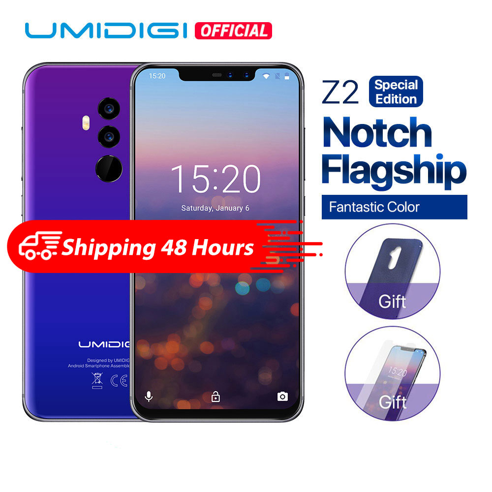 "UMIDIGI Z2 Special Edition Helio P23 2.0GHz 19:9 6.2"" FHD+Full Screen 4G+64GB Android 8.1 Telephone 18W Fast Charge Face Unlock"