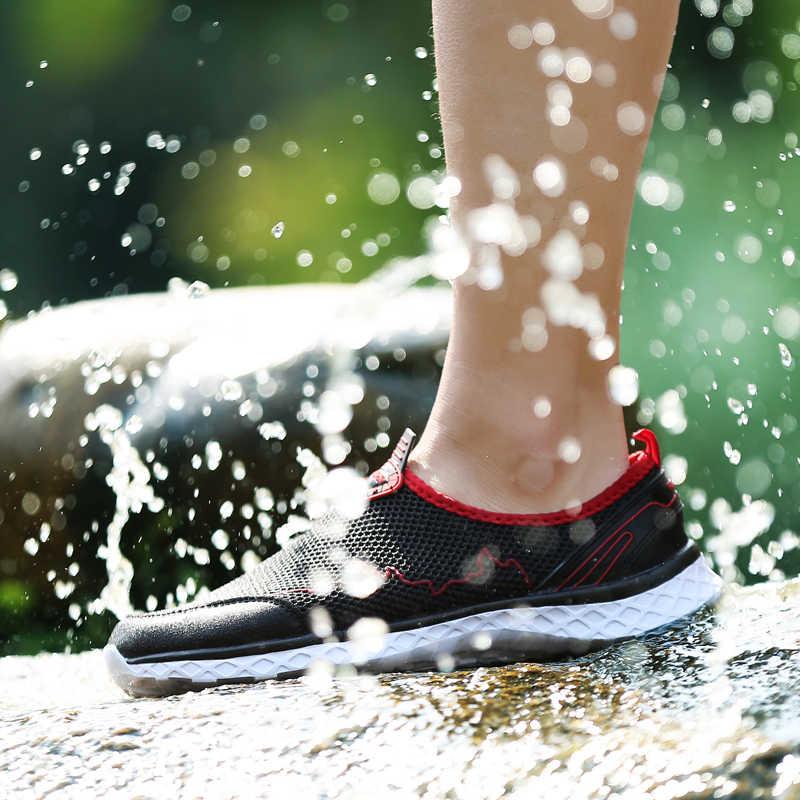 남성 신발 여름 소프트 로퍼 신발 경량 메쉬 캐주얼 신발 남성 스니커즈 Tenis Masculino Zapatillas Hombre Lovers 36-46