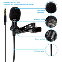 camera computer Mini USB Microphone Lapel Lavalier PC / Phone / Camera Mic Portable External Buttonhole Microphones for iPhone Laptop Computer (5)