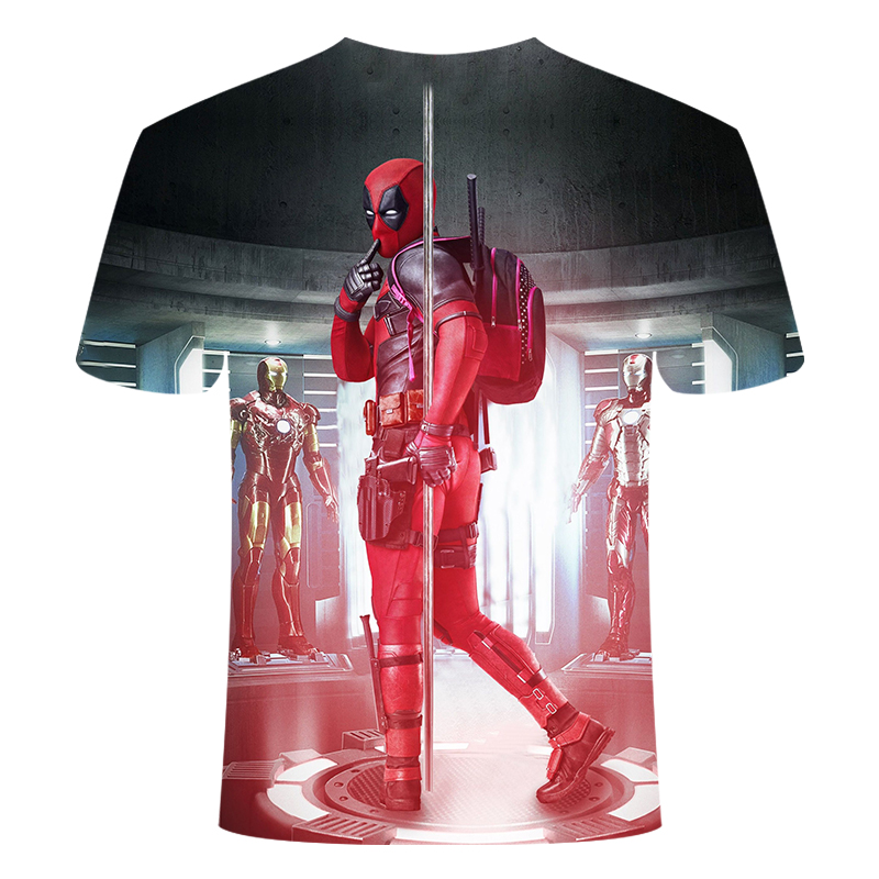 The marvel movie deadpool revolves around the men's trend comic short-sleeved marvel summer 3D t-shirts