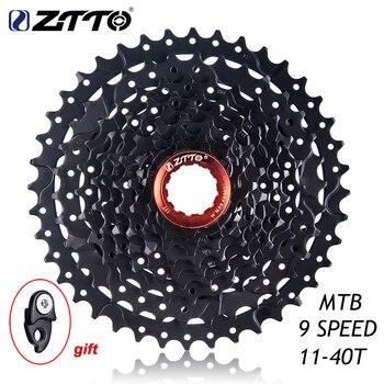 ZTTO vtt VTT pièces de vélo 9 s 27s vitesse roue libre Cassette 9 vitesses 11-40T large RATIO Compatible pour M430 M4000 M3000