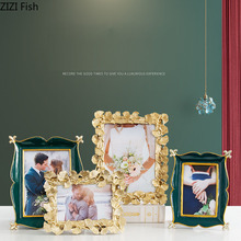 Family Portrait Picture-Frames Wall-Hanging Home-Decor Golden-Ginkgo Nightstand Vintage