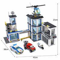 2019 Nuova Serie di Città della Stazione di Polizia di Set Compatibile Legoines Città 60141 Blocchi di Costruzione di Mattoni Giocattoli per I Bambini Regali